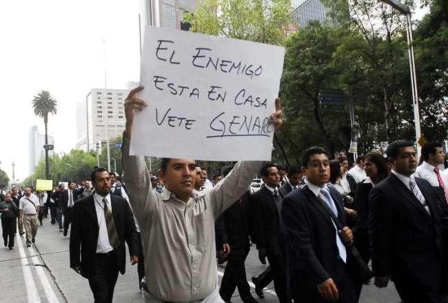 Federal police protest Garcia Luna