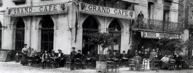 Gran Café del pueblo, donde los artistas se reunían a descansar.